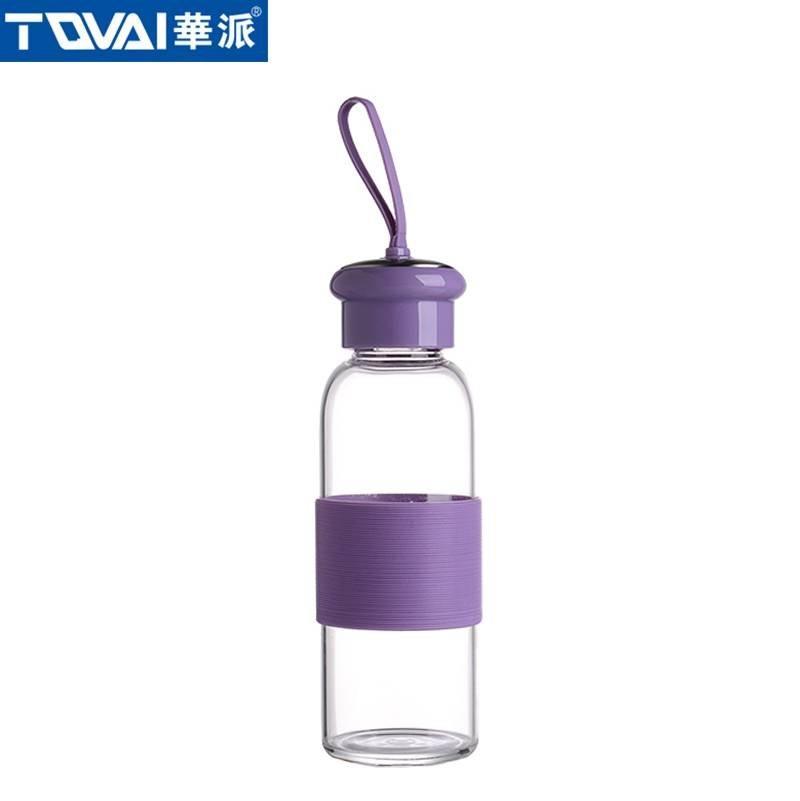 华派玻璃水瓶 AW360 紫